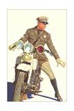 Motorcycle Cop Impression giclée