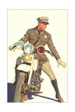 Motorcycle Cop Giclee Print