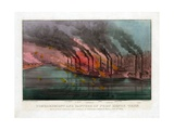 Bombardment and Capture of Fort Henry, Tennessee Giclee Print by  Currier & Ives