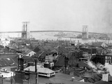 Brooklyn Bridge from Lower Manhattan, New York Photographic Print by J.J. Campbell