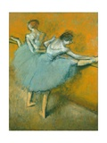 Dancers at the Barre Giclee Print by Edgar Degas