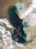 Ice Covering Northern Portion of the Caspian Sea Photographic Print