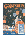 Sheet Music for While We Danced at the Mardi Gras Giclee Print