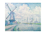 Canal of Overschie Gicléetryck av Paul Signac