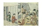 House of Ichizuke Gicleetryck av Kitagawa Utamaro