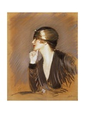 Portrait of Lucette Giclee Print by Paul Cesar Helleu