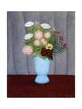 Garden Flowers Giclee Print by Henri Rousseau