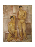 Seated and Standing Nudes Giclee Print by Christopher Wood