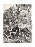 St. Eustace Giclée-tryk af Albrecht Dürer