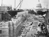 Library of Congress under Construction Photographic Print