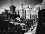Broad Street, North from Stone Street, Newark, NJ Fotografie-Druck