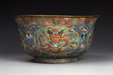 A Large Ming Cloisonne Basin Photographic Print