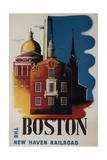 The New Haven Railroad Advertising Travel Poster, Boston Giclee Print