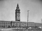 The Ferry Building in San Francisco after the Earthquake of 1906 Photographic Print