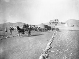 Tum-Tum Carts Head for Khyber Pass Photographic Print by William Henry Jackson