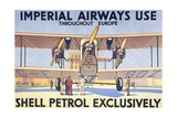 Imperial Airways Use Shell Petrol Exclusively Poster Giclee Print
