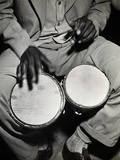 Man Playing the Bongo Drums Photographic Print by Charles Rotkin