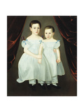 Portrait of Two Young Girls Giclee Print