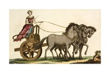 Print of Ancient Greek Female Charioteer Giclee Print