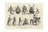 Engraving of the Ten Avatars of Vishnu Giclee Print