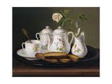 Still Life of Porcelain and Biscuits Giclée-Druck von George Forster