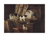 Artful Play Giclee Print by Henriette Ronner-Knip