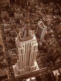 1970s Aerial Shot from Helicopter Looking Down Full Length of Empire State Building Photographic Print