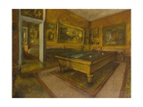 Billiard Room at M'nil-Hubert Giclee Print by Edgar Degas
