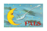Moon and Spoon Pals Giclee Print
