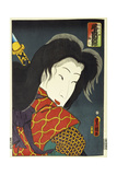 Onoe Kikujiro II as Takiyashahime Giclee Print by  Utagawa Kunisada and U. Yoshitora
