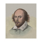 Portrait of Young William Shakespeare Giclee Print