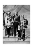 Portrait of the Last Three German Emperors Giclee Print