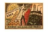 1947 Czech Propaganda Postcard Giclee Print