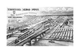 Railroad Yard in Philadelphia Giclee Print