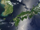 Korean Peninsula and Southern Japan Photographic Print