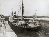 S.S. Cristobal Entering Lock on Trial Trip Through Panama Canal Photographic Print