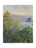 Flower Beds at V'theuil Giclee Print by Claude Monet