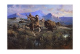 Buffalo Hunt Giclee Print by Edgar Samuel Paxson