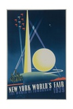 1939 New York World's Fair Poster, the World of Tomorrow, Blue Giclee Print