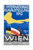 1st International Flying Expo Vienna Austria 1912 Advertising Poster Impression giclée