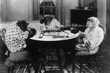 Chimpanzees Play Mahjong Photographic Print