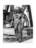 1930s-1940s Full Figure of Man in Underwater Diving Suit Giclee Print