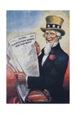 1920s American Banking Poster, Uncle Sam Deposits Show Huge Gains Giclee Print