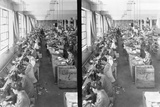 Shoe Factory Workers Photographic Print