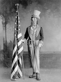 Wooden Uncle Sam and the American Flag Photographic Print by Joseph Randall Blanchard