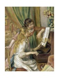 Young Girls at the Piano Giclee Print by Pierre-Auguste Renoir