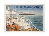 Cie. Gle. Transatlantique Giclee Print by Ernest Louis Lessieux
