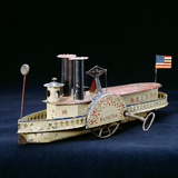 A Rare Electra American Clock-Work, Tinplate Paddlewheel River Boat, Circa 1860s Photographic Print