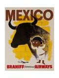 Braniff Airways Travel Poster Mexico Giclée-Druck