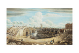 Rebuilding London Bridge Giclee Print by Gideon Yates